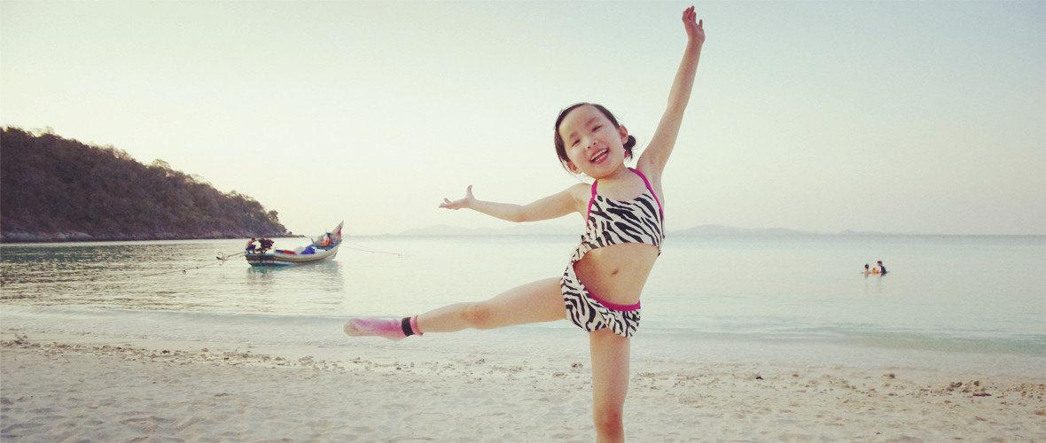 萌娃海边图片大全可爱