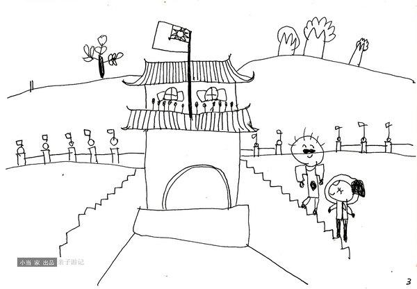 故宫平面图手绘简画