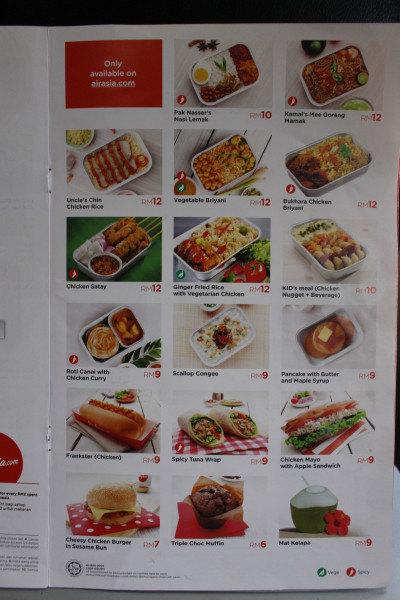 食谱airasia编制上东西的其中这是,不过大多数菜单都在这面上了,后面v食谱大学生一面飞机图片