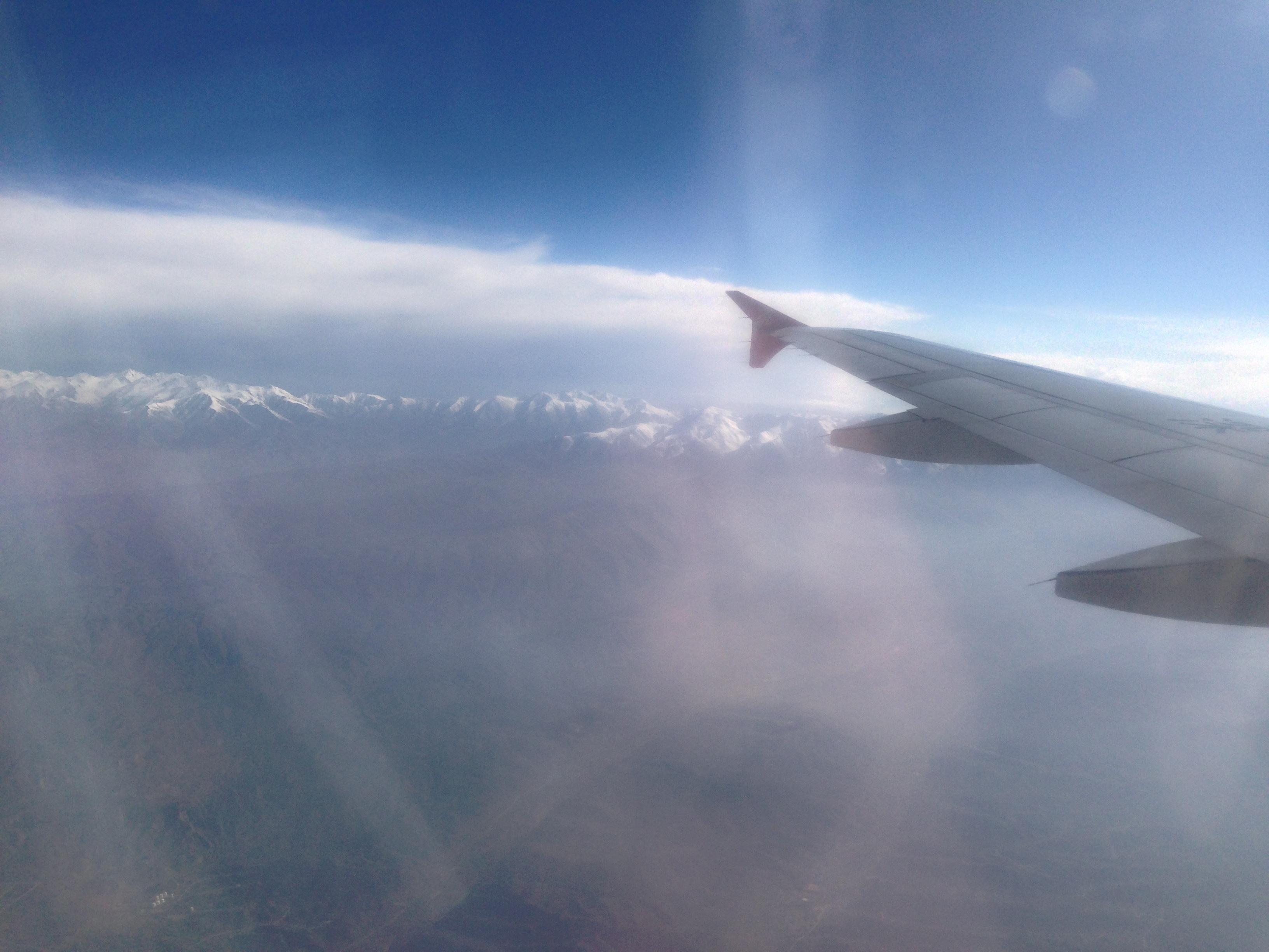 飞机上看到的,关于远方的雪山