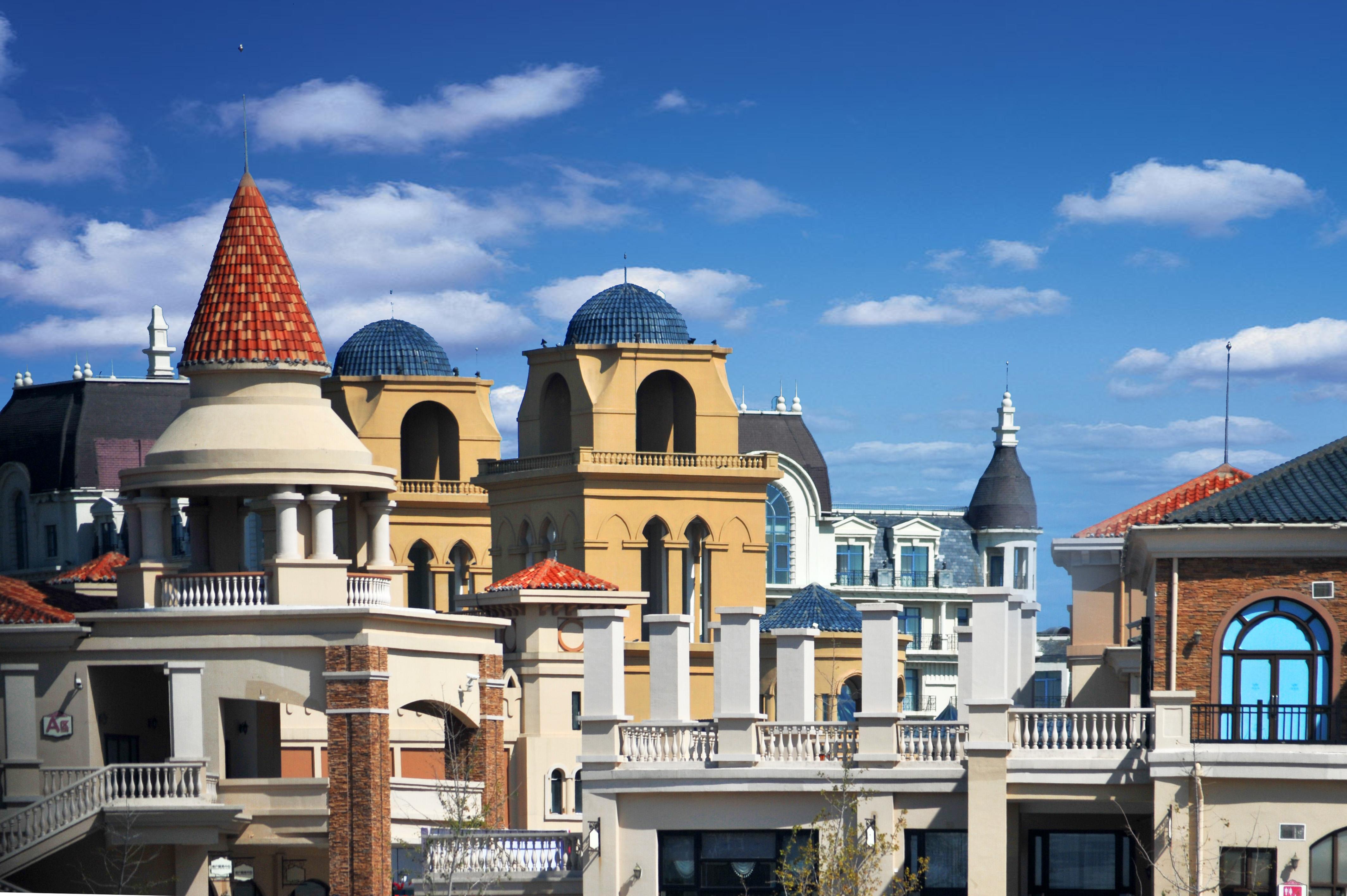 海边欧式建筑风格