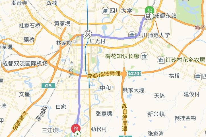 成都火车东站到华阳汉庭连锁酒店怎样坐车?
