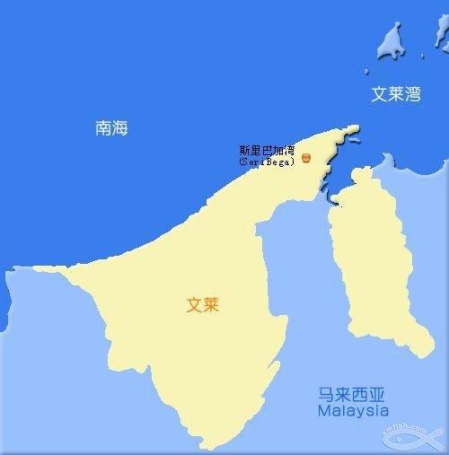 (文莱地图和首都手绘地图)