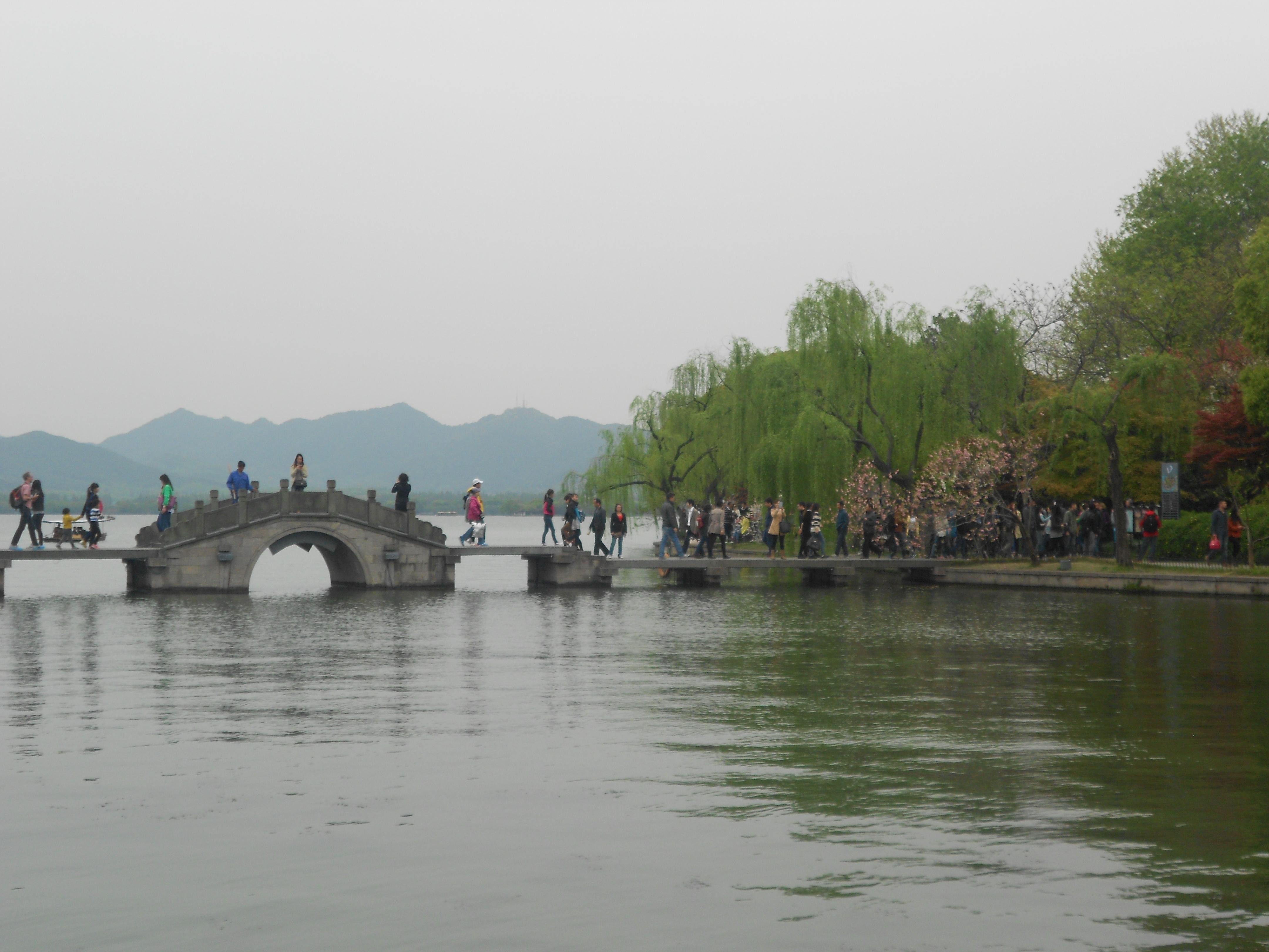 西湖风景手绘 ps素材