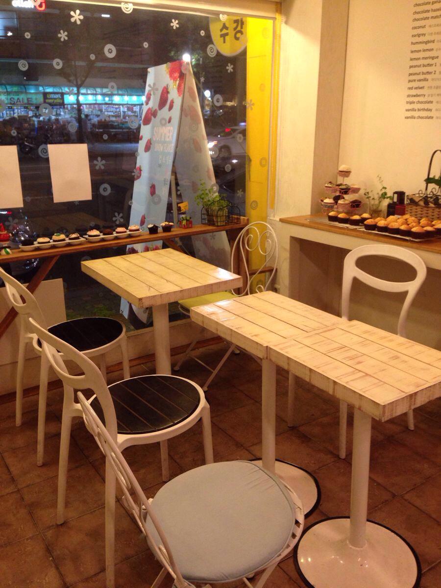 首尔可爱的cupcake咖啡店