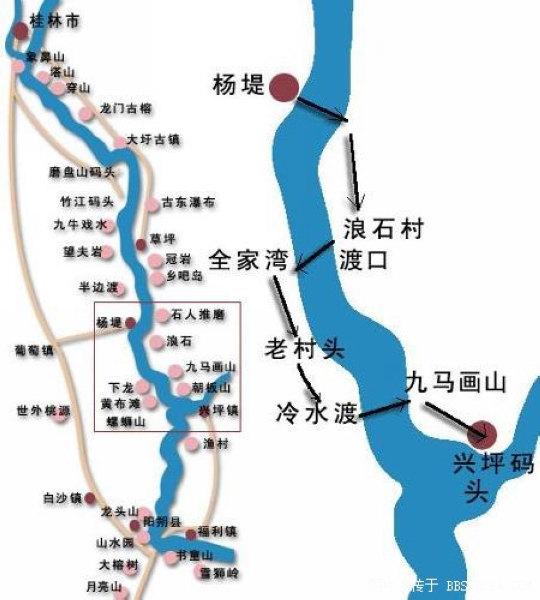 桂林市区到阳朔有多远