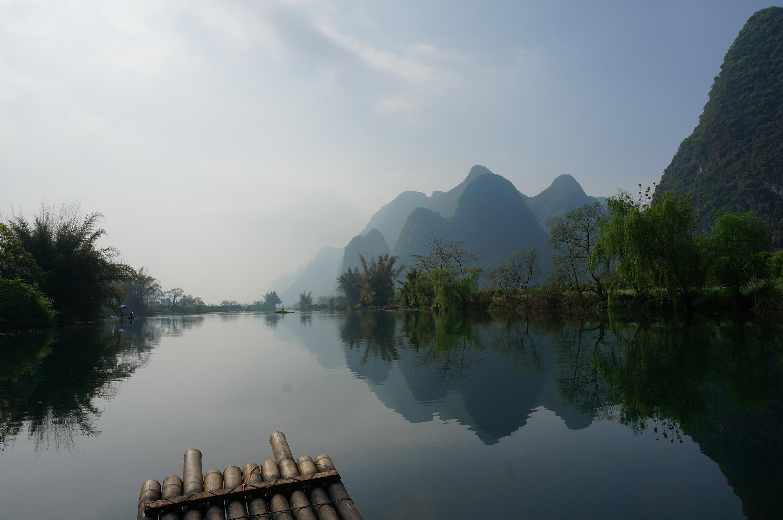 桂林风景简笔画彩色
