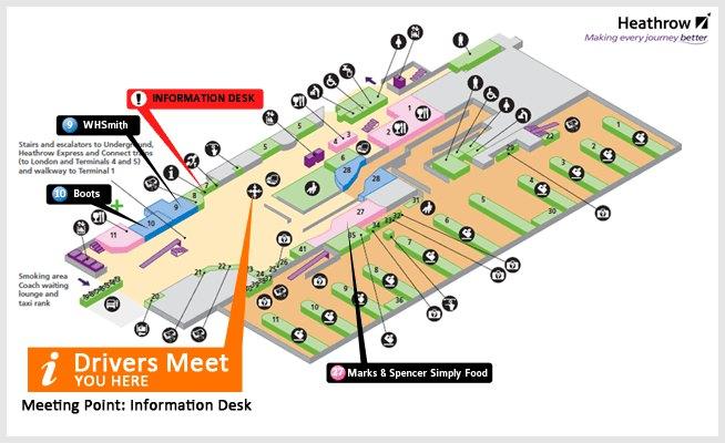 希斯罗机场3号航站楼平面图