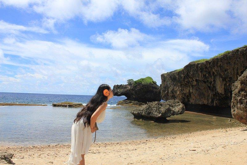 【携程攻略】塞班岛鳄鱼头海滩景点,鳄鱼岛,蛋糕石的