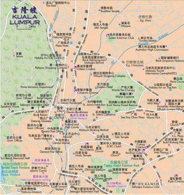 吉隆坡中文地图