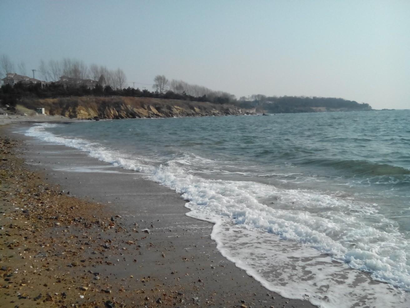 冬天海边背景素材