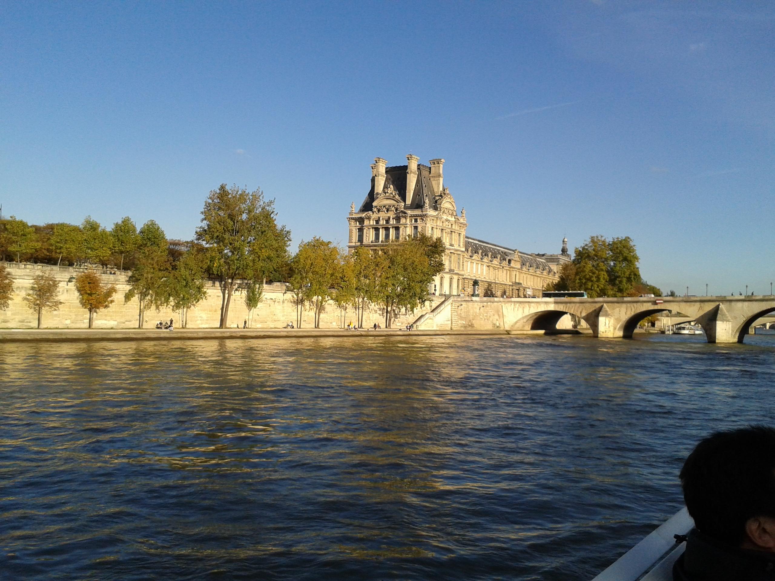 塞纳河 初游巴黎 高清图片