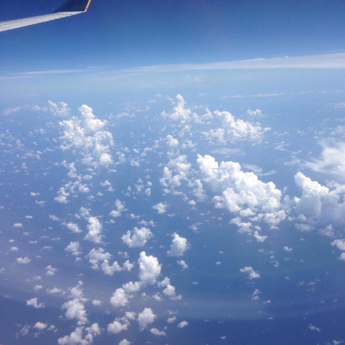 飞机起飞了,风景