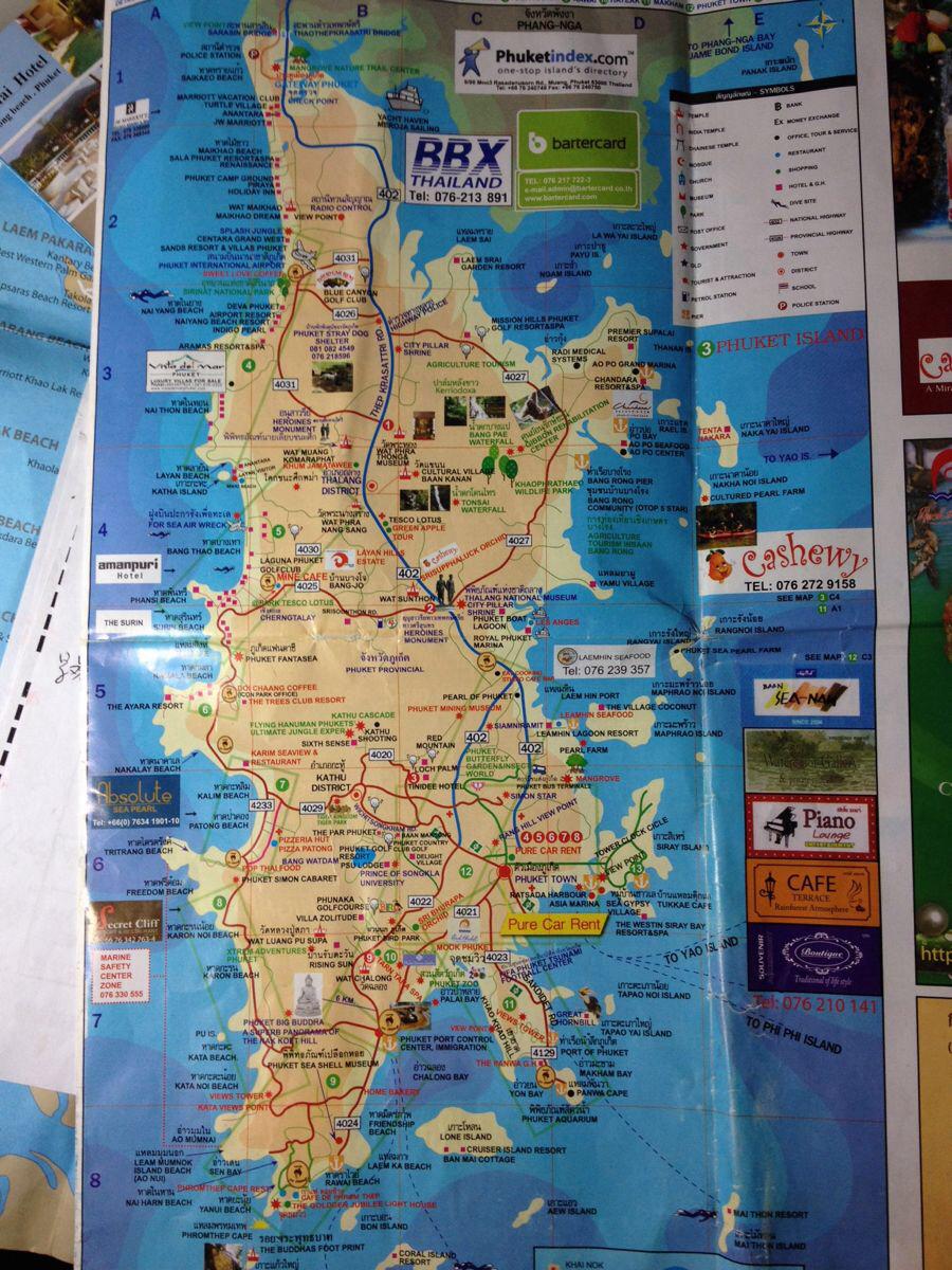 普吉岛英文地图