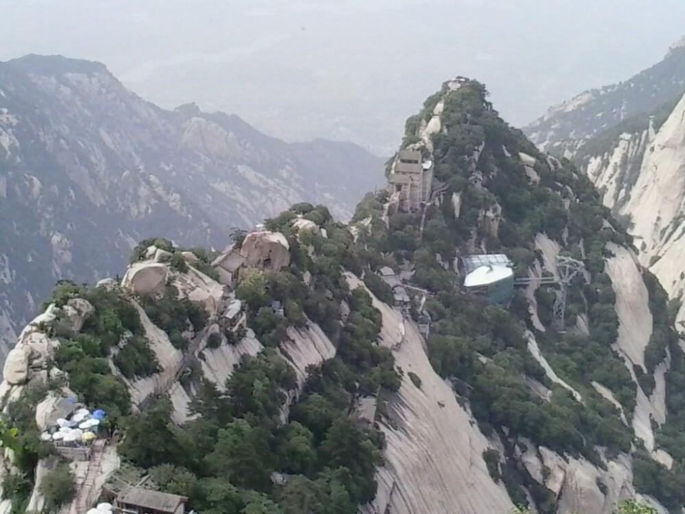 遥望华山北峰图片