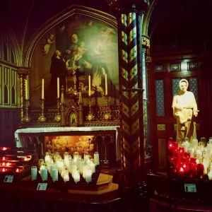 蒙特利尔圣母大教堂旅游景点攻略图