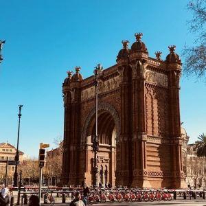 巴塞罗那凯旋门旅游景点攻略图