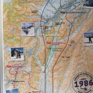 南部冰川直升机飞行体验旅游景点攻略图