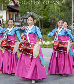 [长白游记图片] 中朝边境难忘的晚餐,不仅欢迎仪式隆重,而且朝鲜族佳肴独具特色