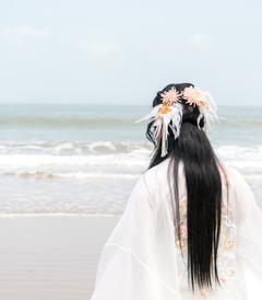 [普陀山游记图片] 缤纷舟山,穿上汉服去旅行,在海天一色间体验轻纱薄袖的飘逸