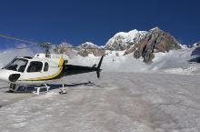 新西兰南岛,直升机稳稳停在了雪山上,和雪来个亲密接触