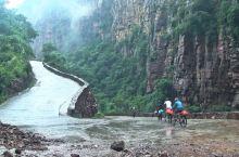 险峻挂壁公路!中国河南太行山