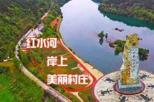 天峨县红水河岸上的云榜村,渔村与田园的巧妙融合,风光秀丽娴雅