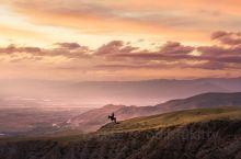 新疆夏天10点半的日落