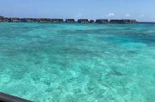 马尔代夫真的太适合度假了,光是可以看着这样的大海就已经超级满足了。
