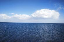 青色的海!
