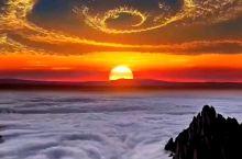 大美黄山日出