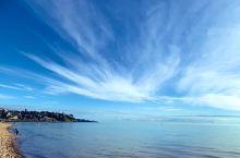 海滩和云彩