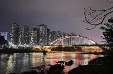 桃江大桥夜色