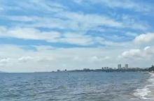 宽广的大海 蓝蓝的天空