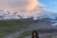 阿尼玛卿冰川,正好路过,日落时很美