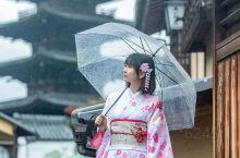 《京都的雨》- 樱花和服写真
