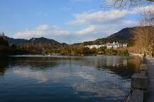 江西井冈山景区茨坪的挹翠湖公园。