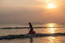 看海,日落的三亚!