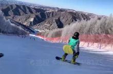 一个滑雪初学者
