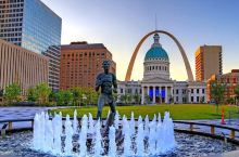 航拍圣路易斯,美国密苏里州第二大城市,城市风貌是什么水平?
