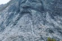 湖北襄阳发现大型伏羲摩崖石刻头像