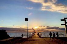 从栈桥看海和霞光