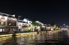 灯光船影古运河