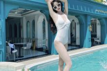 西双版纳江景酒店~芭黎人轻奢酒店你来了吗? 蓝白法式外观,泳池漂浮餐128元,超高性价比,房间里面超