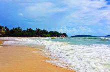 苏梅岛查汶海滩上的水,不是很清澈