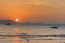 泰国甲米功孟海滩落日