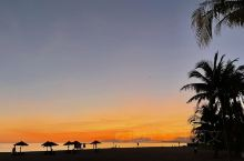 崖州湾令人心醉的日落