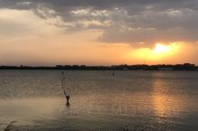 南海湖落日