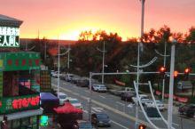 美丽呼伦贝尔市伊敏小镇,雨后的日落很美