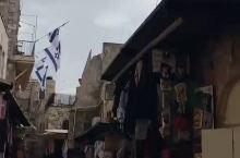天呐!我在以色列耶路撒冷老城,走十架苦路时居然遇到了下冰雹!